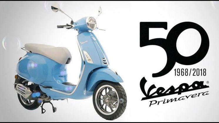 2018 Vespa Primavera 50: drive through the city in style