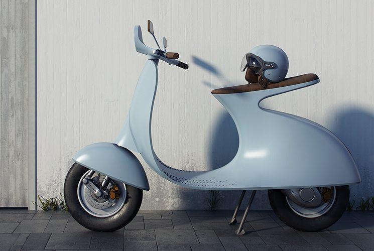 An Italian designer imagines a minimalist electric Vespa