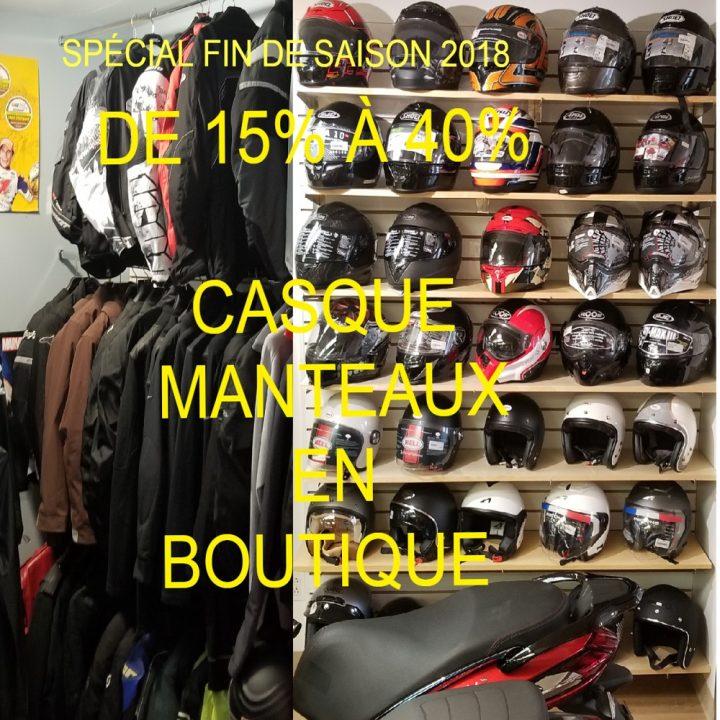 Vente de fin de saison 2018 boutique casque manteaux