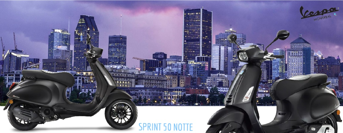 Vespa Sprint 50 Spécial édition Notte