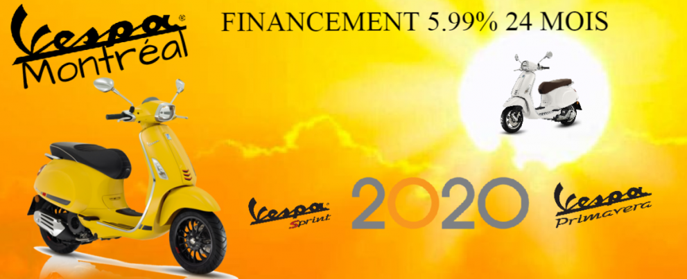 Promo sur toutes les Vespa 2020