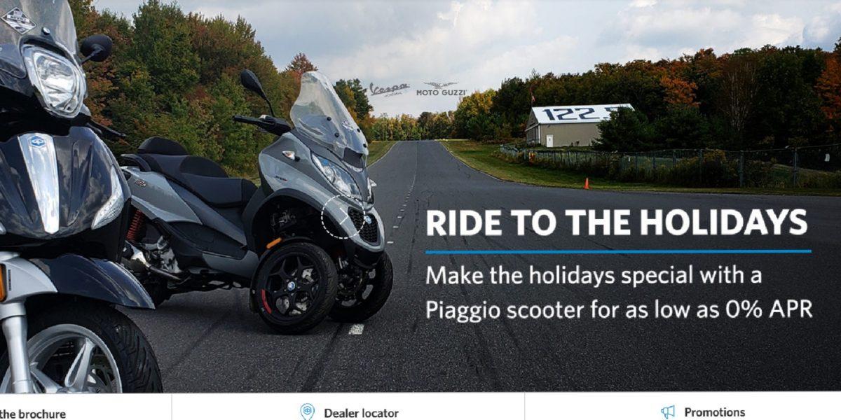 Piaggio Holidays promo