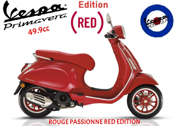 Vespa Primavera Édition Red  2021