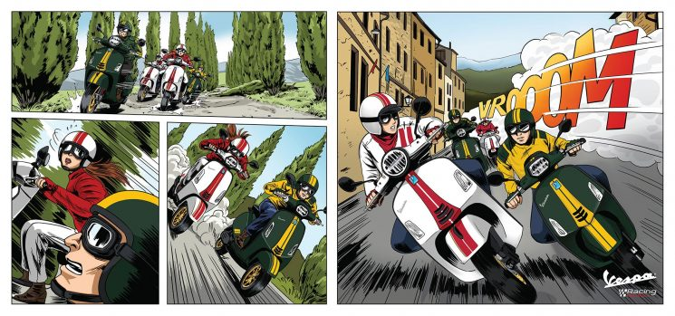 Vidéo Vespa Piaggio Moto Guzzi Honda Montréal ( Movie)