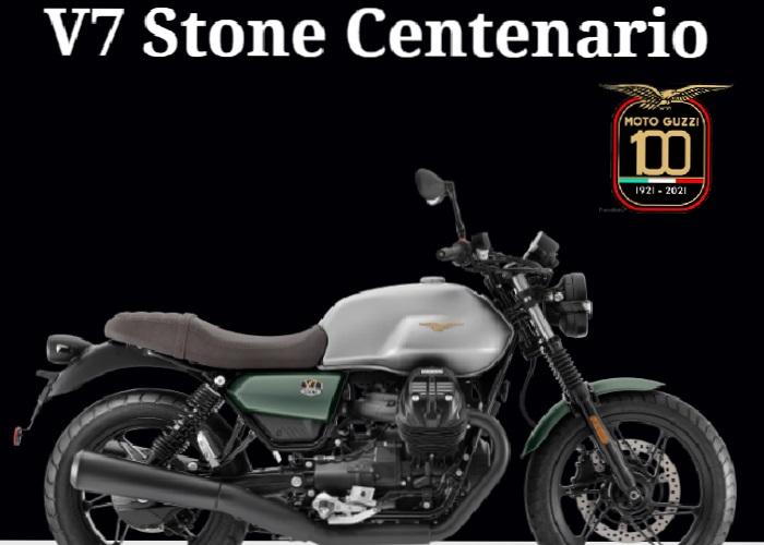 Moto Guzzi V7 Stone 850  Centenario 2021